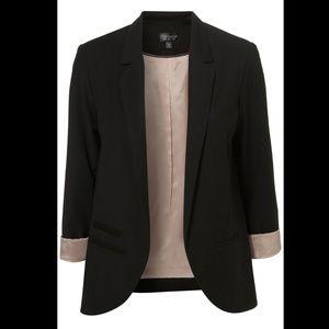 Topshop Black Structured Blazer Size 4